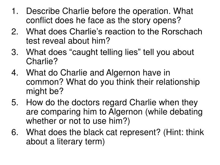 Describe Charlie before the operation. What conflict does he face as the story opens?