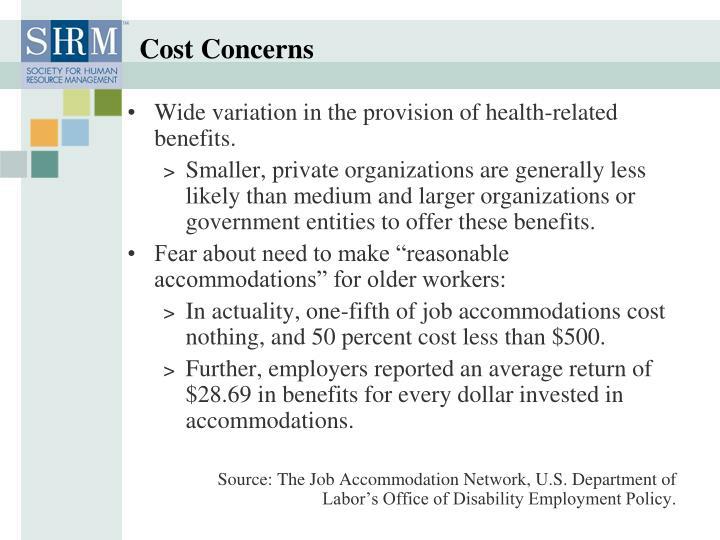 Cost Concerns