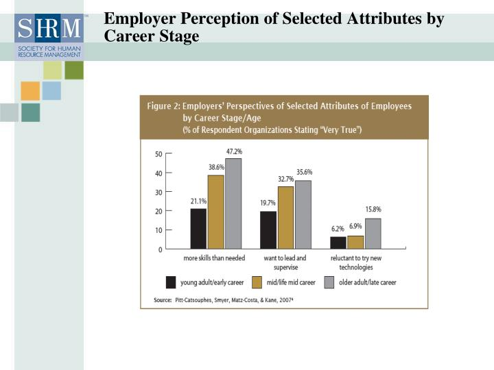 Employer Perception of Selected Attributes by Career Stage