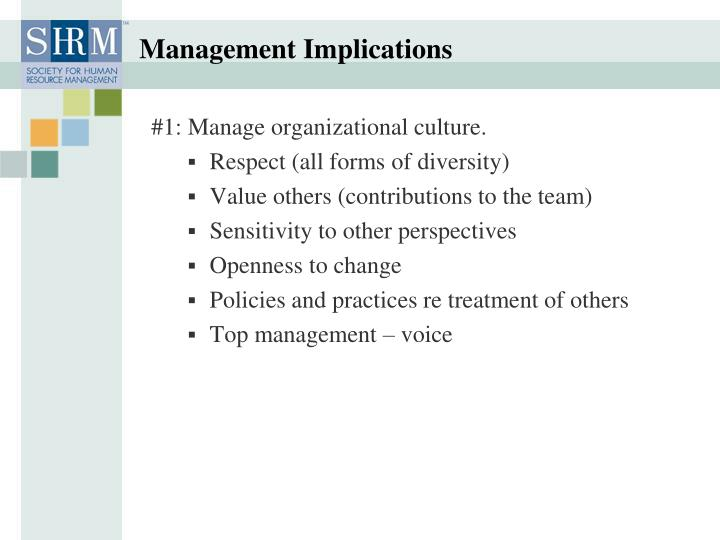 Management Implications