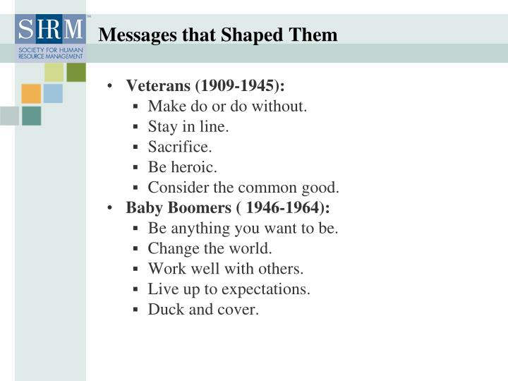 Messages that Shaped Them