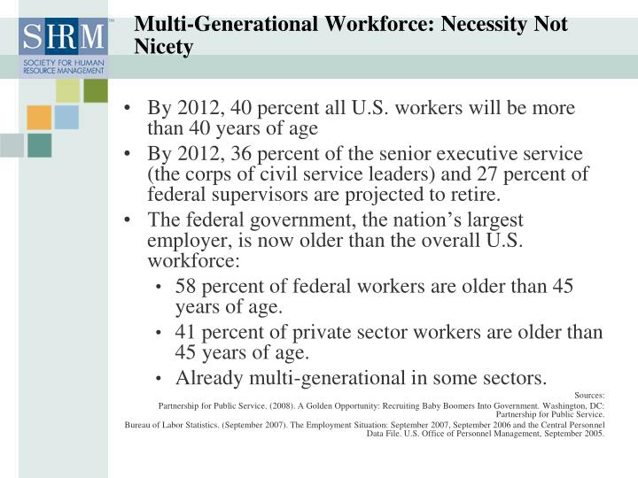 Multi-Generational Workforce: Necessity Not Nicety