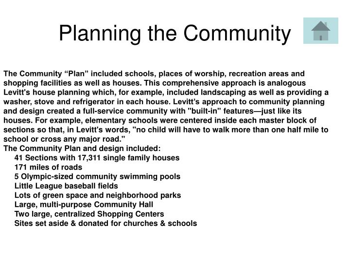 Planning the Community