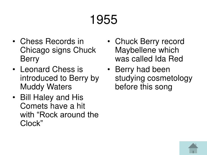 Chess Records in Chicago signs Chuck Berry