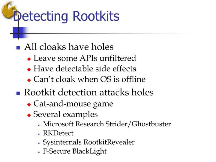 Detecting Rootkits