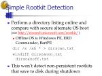 simple rootkit detection