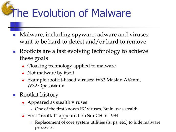 The Evolution of Malware