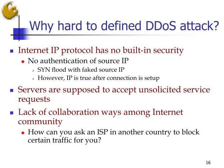 Why hard to defined DDoS attack?