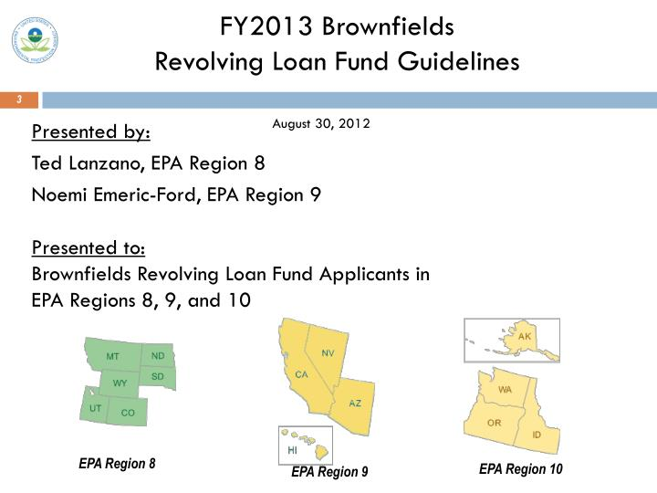 Fy2013 brownfields revolving loan fund guidelines