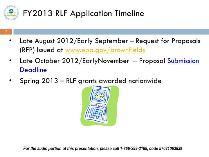 FY2013 RLF Application Timeline