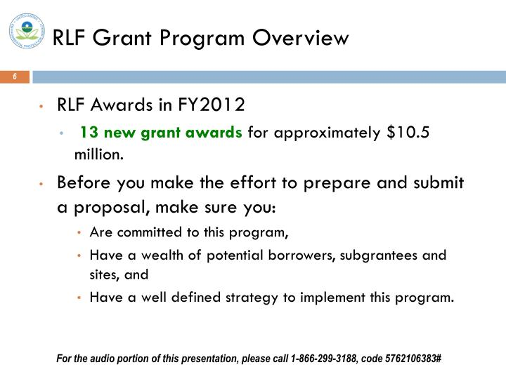 RLF Grant Program Overview