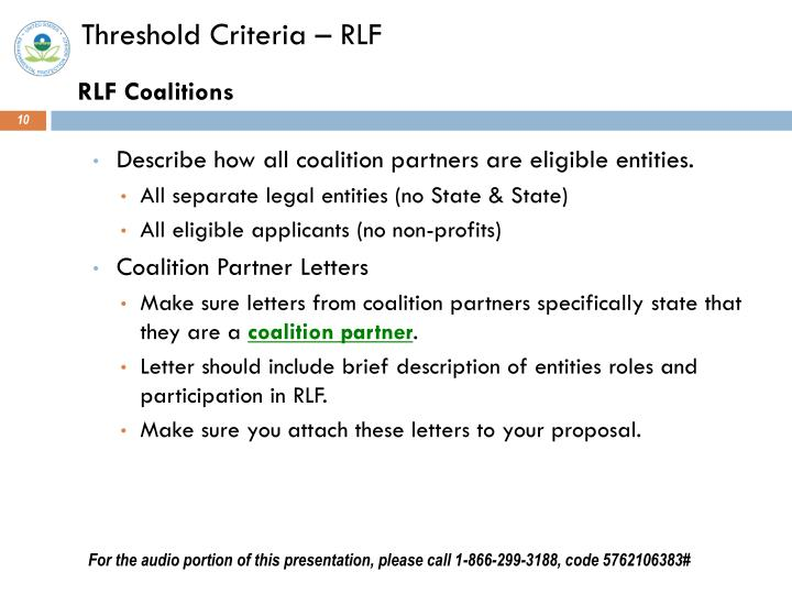 Threshold Criteria – RLF