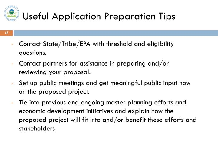 Useful Application Preparation Tips