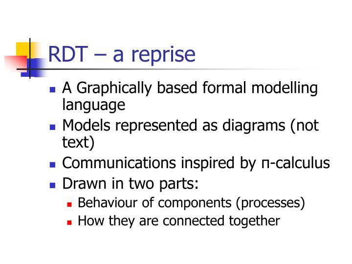 RDT – a reprise