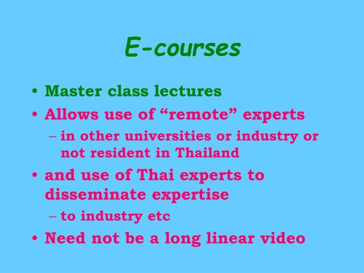 E-courses