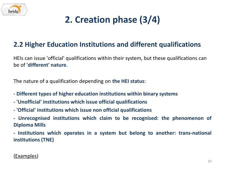 2. Creation phase (3/4)