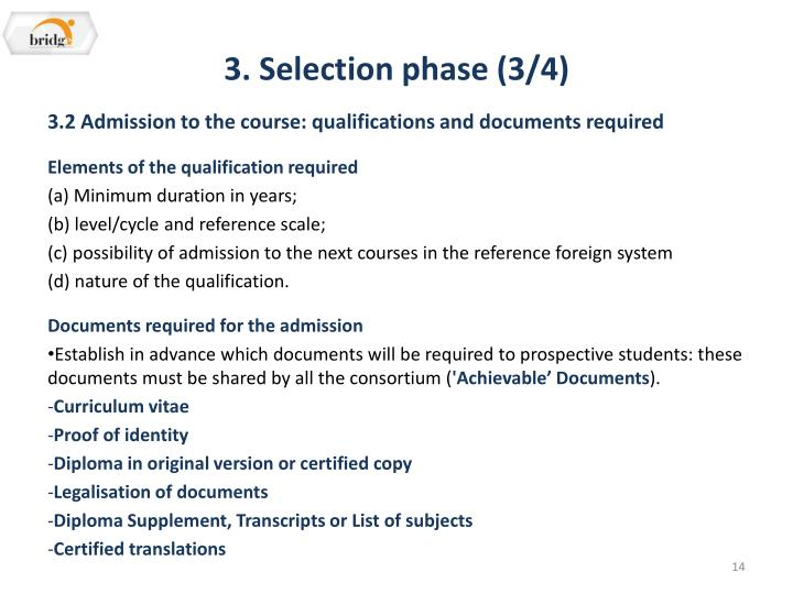 3. Selection phase (3/4)
