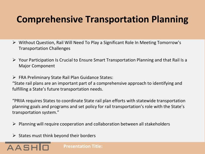 Comprehensive Transportation