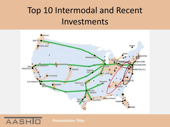 Top 10 Intermodal and Recent Investments