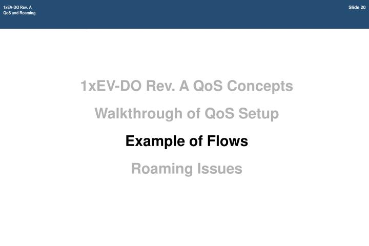 1xEV-DO Rev. A QoS Concepts