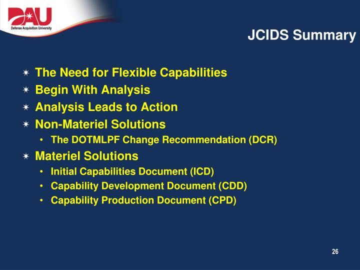 JCIDS Summary