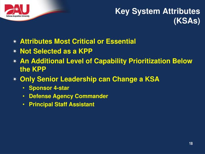 Key System Attributes