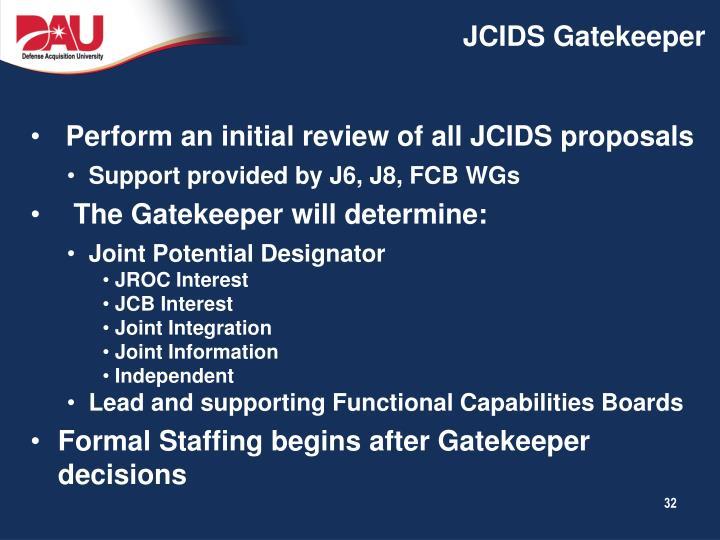 JCIDS Gatekeeper