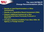 the joint dotmlpf change recommendation dcr