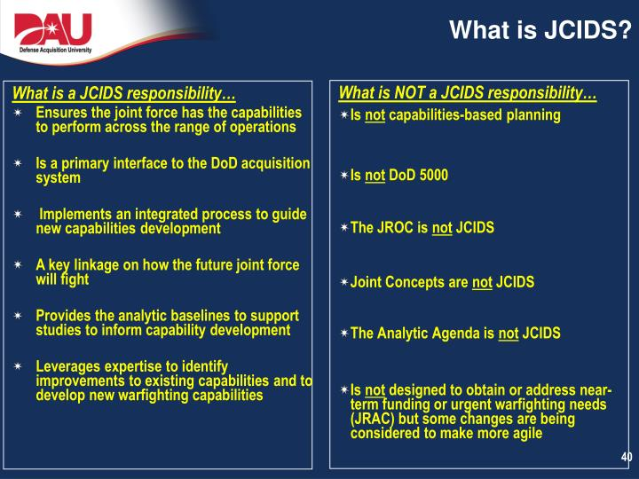 What is JCIDS?