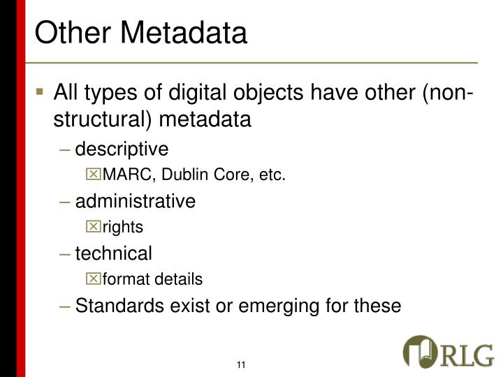 Other Metadata