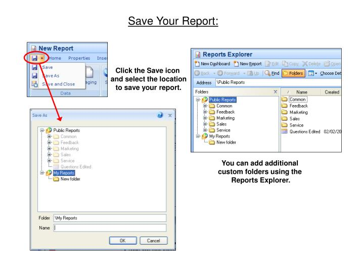 Save Your Report: