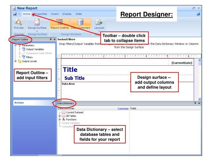 Report Designer: