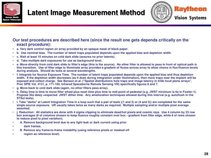 Latent Image Measurement Method
