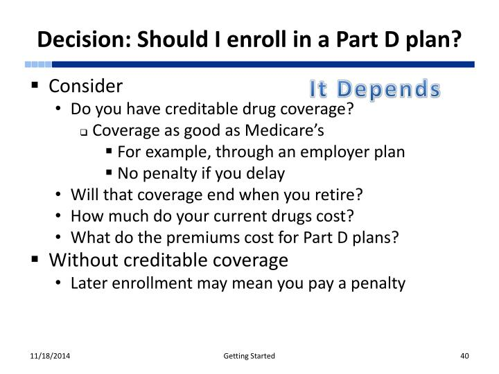 Decision: Should I enroll in a Part D plan?