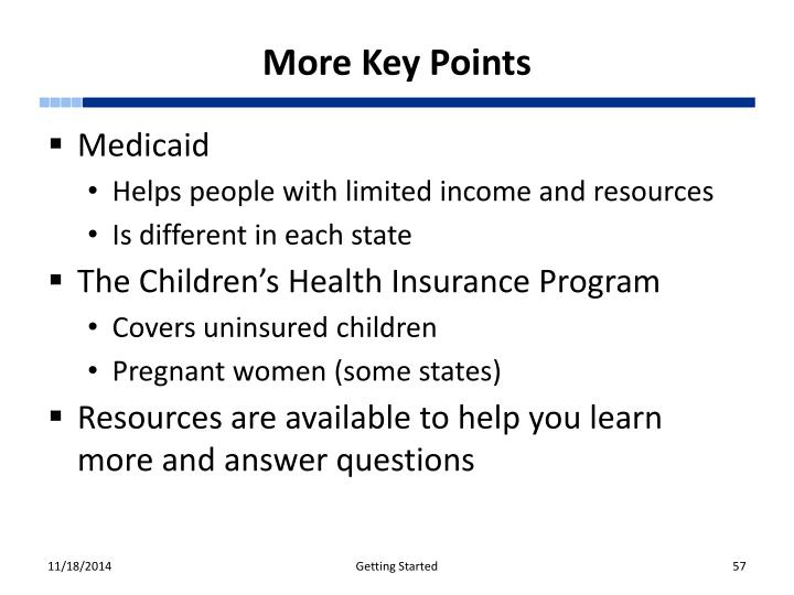 More Key Points
