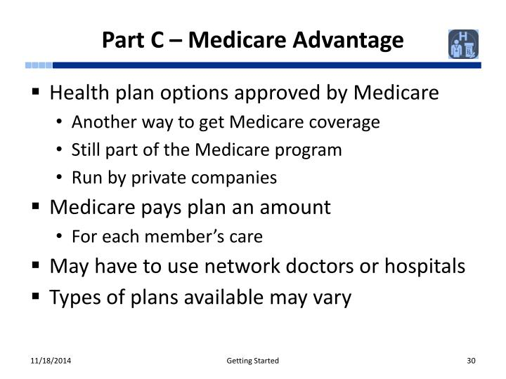 Part C – Medicare Advantage