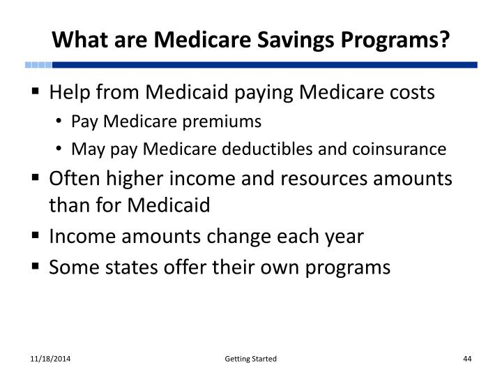 What are Medicare Savings Programs?