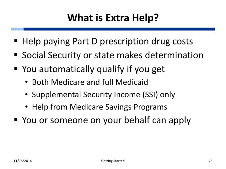 What is Extra Help?
