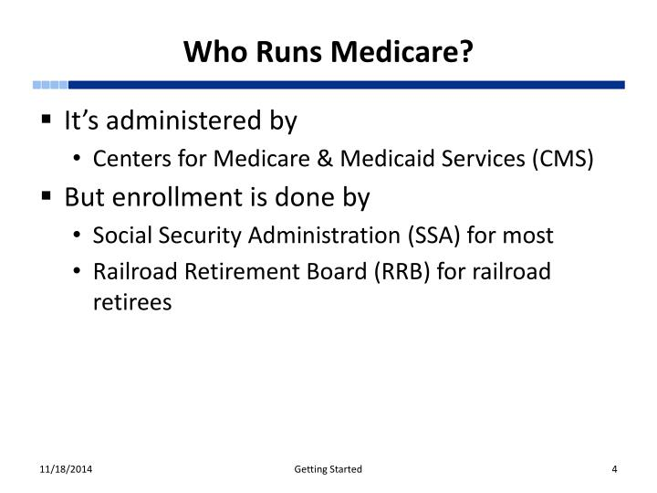 Who Runs Medicare?