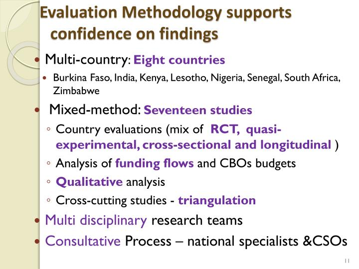 Evaluation Methodology supports