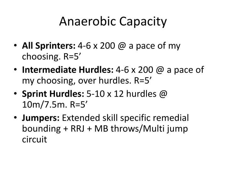 Anaerobic Capacity