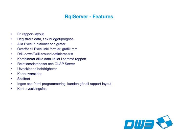 Rqlserver features