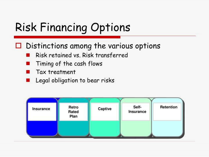Risk Financing Options