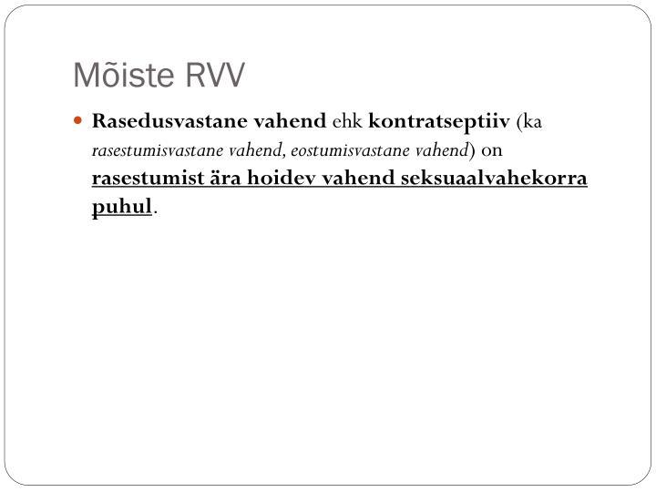 Mõiste RVV