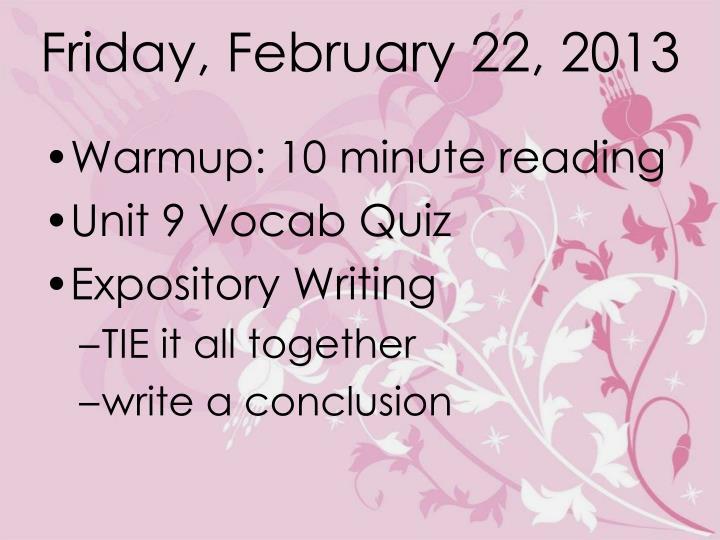 Friday, February 22, 2013