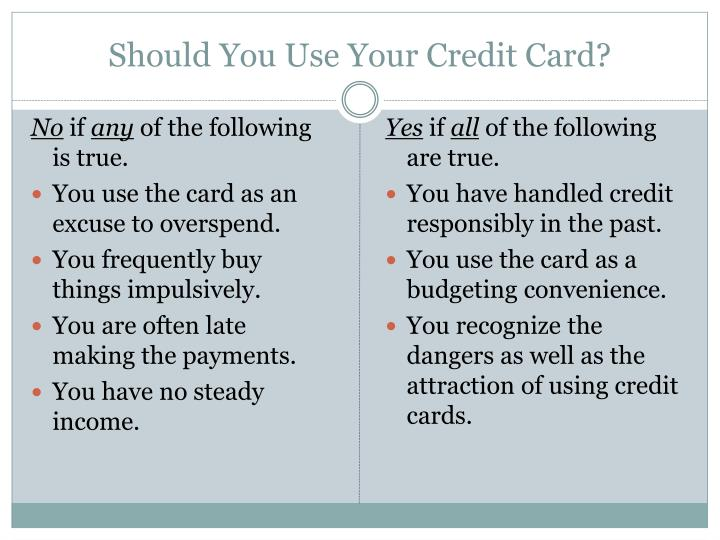 Should You Use Your Credit Card?