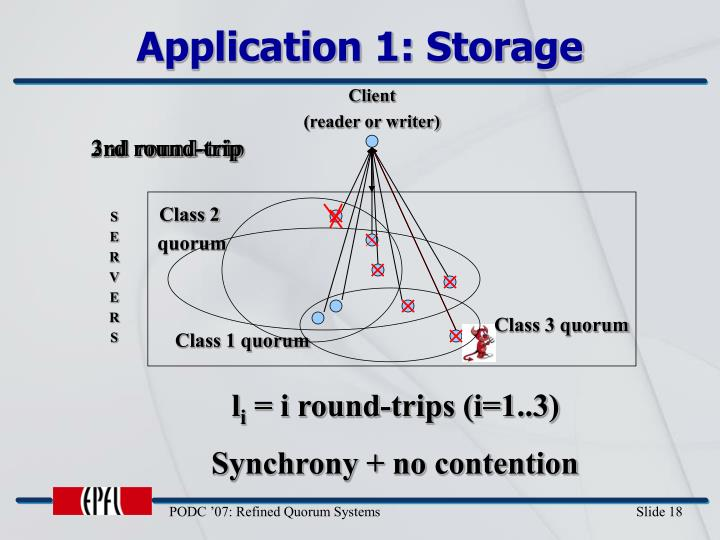 Application 1: Storage