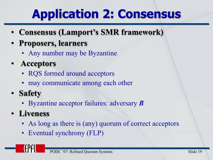 Application 2: Consensus