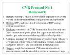 cvr protocol no 1 homework
