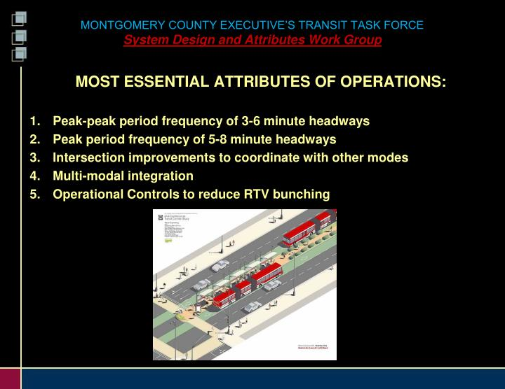 MONTGOMERY COUNTY EXECUTIVE'S TRANSIT TASK FORCE